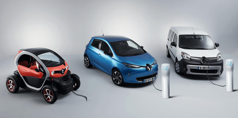electric renault zoe twizy and kangoo